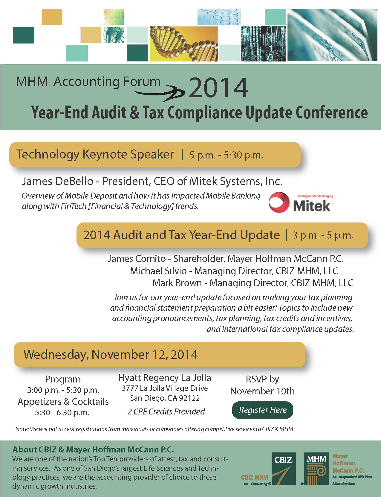 CBIZ MHM Year-End Audit & Tax Update Conference